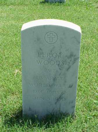 WOODS (VETERAN WWI), LEROY - Pulaski County, Arkansas | LEROY WOODS (VETERAN WWI) - Arkansas Gravestone Photos