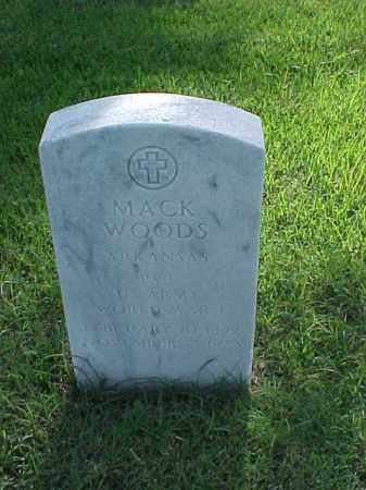 WOODS (VETERAN WWI), MACK - Pulaski County, Arkansas | MACK WOODS (VETERAN WWI) - Arkansas Gravestone Photos