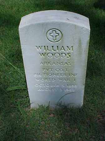 WOODS (VETERAN WWI), WILLIAM - Pulaski County, Arkansas | WILLIAM WOODS (VETERAN WWI) - Arkansas Gravestone Photos