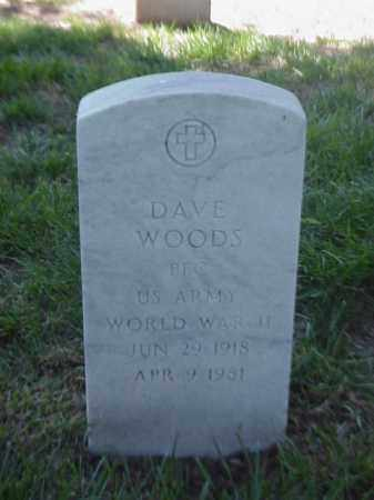 WOODS (VETERAN WWII), DAVE - Pulaski County, Arkansas | DAVE WOODS (VETERAN WWII) - Arkansas Gravestone Photos
