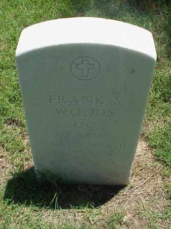 WOODS (VETERAN WWII), FRANK S - Pulaski County, Arkansas | FRANK S WOODS (VETERAN WWII) - Arkansas Gravestone Photos