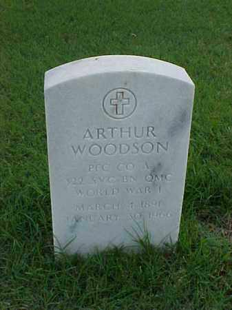 WOODSON (VETERAN WWI), ARTHUR - Pulaski County, Arkansas | ARTHUR WOODSON (VETERAN WWI) - Arkansas Gravestone Photos