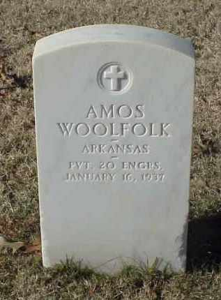 WOOLFOLK (VETERAN WWI), AMOS - Pulaski County, Arkansas | AMOS WOOLFOLK (VETERAN WWI) - Arkansas Gravestone Photos