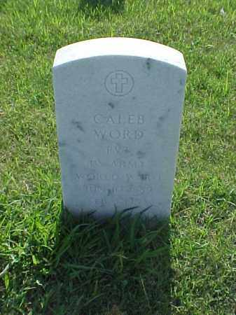 WORD (VETERAN WWI), CALEB - Pulaski County, Arkansas | CALEB WORD (VETERAN WWI) - Arkansas Gravestone Photos