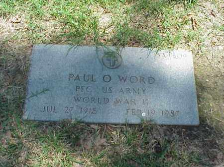WORD (VETERAN WWII), PAUL O - Pulaski County, Arkansas | PAUL O WORD (VETERAN WWII) - Arkansas Gravestone Photos