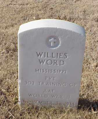 WORD (VETERAN WWII), WILLIES - Pulaski County, Arkansas | WILLIES WORD (VETERAN WWII) - Arkansas Gravestone Photos