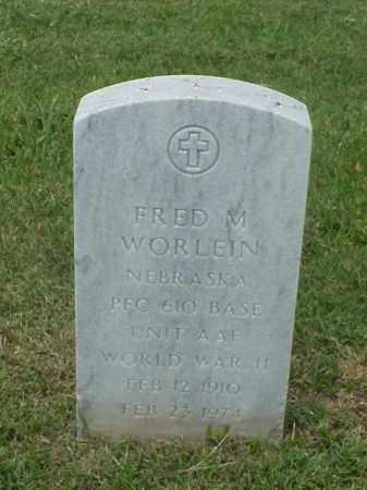 WORLEIN (VETERAN WWII), FRED M - Pulaski County, Arkansas | FRED M WORLEIN (VETERAN WWII) - Arkansas Gravestone Photos