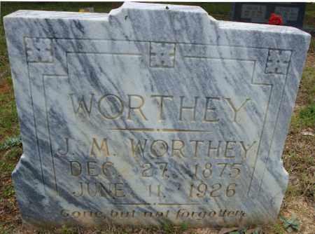 WORTHEY, J.M. - Pulaski County, Arkansas | J.M. WORTHEY - Arkansas Gravestone Photos