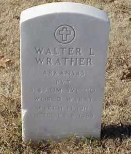WRATHER (VETERAN WWII), WALTER L - Pulaski County, Arkansas | WALTER L WRATHER (VETERAN WWII) - Arkansas Gravestone Photos