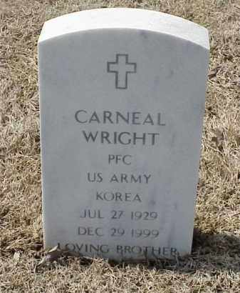 WRIGHT  (VETERAN KOR), CARNEAL - Pulaski County, Arkansas | CARNEAL WRIGHT  (VETERAN KOR) - Arkansas Gravestone Photos