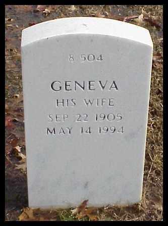 WRIGHT, GENEVA - Pulaski County, Arkansas   GENEVA WRIGHT - Arkansas Gravestone Photos