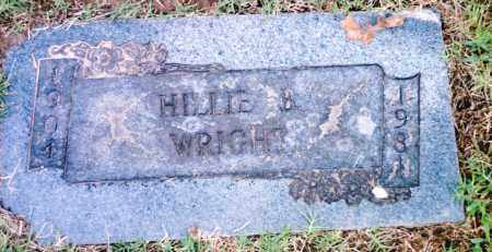 WRIGHT, HILLIE B. - Pulaski County, Arkansas | HILLIE B. WRIGHT - Arkansas Gravestone Photos