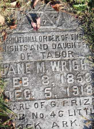 WRIGHT, JANE M - Pulaski County, Arkansas | JANE M WRIGHT - Arkansas Gravestone Photos