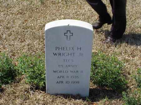 WRIGHT, JR (VETERAN WWII), PHELIX HARRISON - Pulaski County, Arkansas | PHELIX HARRISON WRIGHT, JR (VETERAN WWII) - Arkansas Gravestone Photos