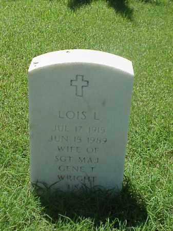 WRIGHT, LOIS L - Pulaski County, Arkansas | LOIS L WRIGHT - Arkansas Gravestone Photos
