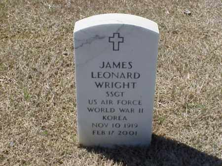 WRIGHT (VETERAN 2 WARS), JAMES LEONARD - Pulaski County, Arkansas | JAMES LEONARD WRIGHT (VETERAN 2 WARS) - Arkansas Gravestone Photos