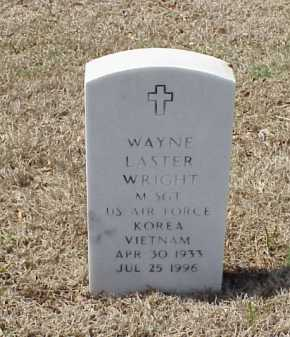 WRIGHT (VETERAN 2 WARS), WAYNE LASTER - Pulaski County, Arkansas | WAYNE LASTER WRIGHT (VETERAN 2 WARS) - Arkansas Gravestone Photos