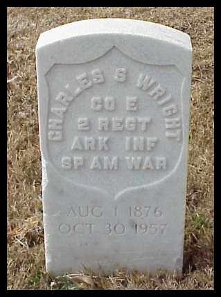 WRIGHT (VETERAN SAW), CHARLES S - Pulaski County, Arkansas | CHARLES S WRIGHT (VETERAN SAW) - Arkansas Gravestone Photos