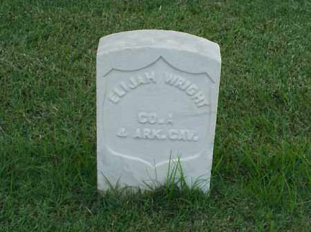 WRIGHT (VETERAN UNION), ELIJAH - Pulaski County, Arkansas | ELIJAH WRIGHT (VETERAN UNION) - Arkansas Gravestone Photos