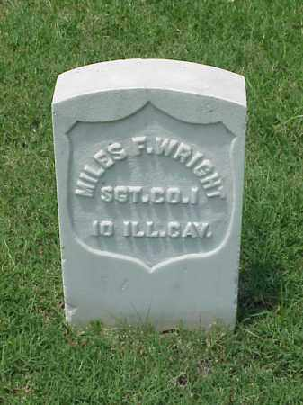 WRIGHT (VETERAN UNION), MILES F - Pulaski County, Arkansas | MILES F WRIGHT (VETERAN UNION) - Arkansas Gravestone Photos