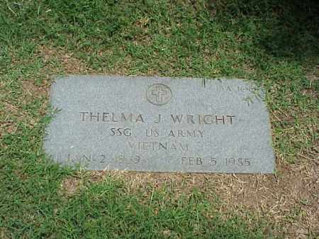 WRIGHT (VETERAN VIET), THELMA J - Pulaski County, Arkansas | THELMA J WRIGHT (VETERAN VIET) - Arkansas Gravestone Photos