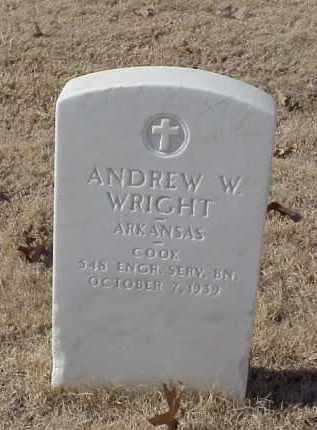 WRIGHT (VETERAN WWI), ANDREW W - Pulaski County, Arkansas | ANDREW W WRIGHT (VETERAN WWI) - Arkansas Gravestone Photos
