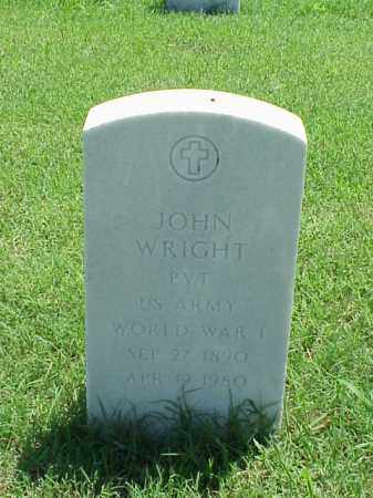 WRIGHT (VETERAN WWI), JOHN - Pulaski County, Arkansas | JOHN WRIGHT (VETERAN WWI) - Arkansas Gravestone Photos