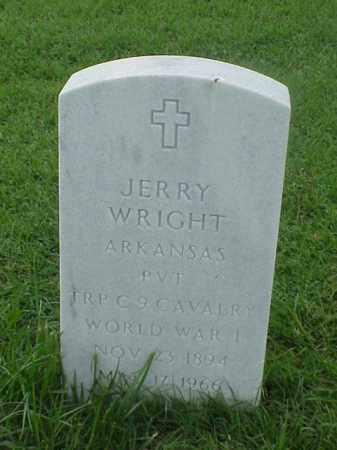 WRIGHT (VETERAN WWI), JERRY - Pulaski County, Arkansas | JERRY WRIGHT (VETERAN WWI) - Arkansas Gravestone Photos