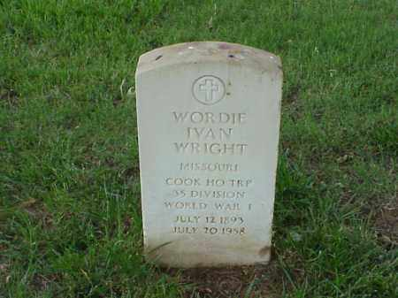 WRIGHT (VETERAN WWI), WORDIE IVAN - Pulaski County, Arkansas | WORDIE IVAN WRIGHT (VETERAN WWI) - Arkansas Gravestone Photos