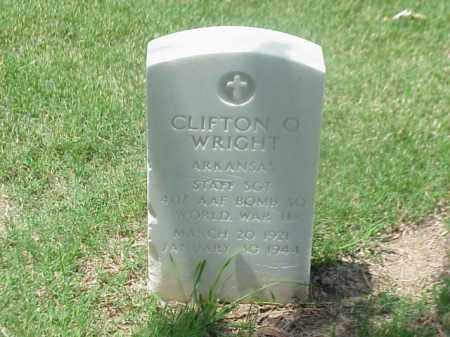WRIGHT (VETERAN WWII), CLIFTON O - Pulaski County, Arkansas | CLIFTON O WRIGHT (VETERAN WWII) - Arkansas Gravestone Photos