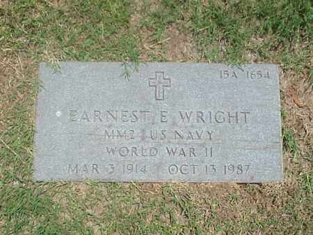 WRIGHT (VETERAN WWII), EARNEST E - Pulaski County, Arkansas | EARNEST E WRIGHT (VETERAN WWII) - Arkansas Gravestone Photos