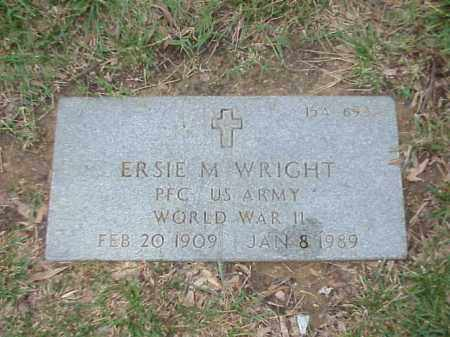 WRIGHT (VETERAN WWII), ERSIE M - Pulaski County, Arkansas | ERSIE M WRIGHT (VETERAN WWII) - Arkansas Gravestone Photos