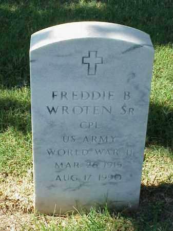 WROTEN, SR (VETERAN WWII), FREDDIE B - Pulaski County, Arkansas | FREDDIE B WROTEN, SR (VETERAN WWII) - Arkansas Gravestone Photos