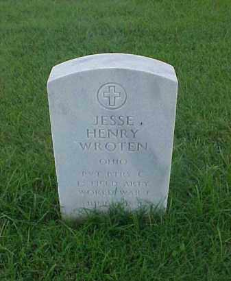 WROTEN (VETERAN WWI), JESSE HENRY - Pulaski County, Arkansas | JESSE HENRY WROTEN (VETERAN WWI) - Arkansas Gravestone Photos