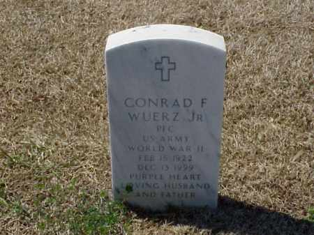 WUERZ, JR (VETERAN WWII), CONRAD F - Pulaski County, Arkansas | CONRAD F WUERZ, JR (VETERAN WWII) - Arkansas Gravestone Photos