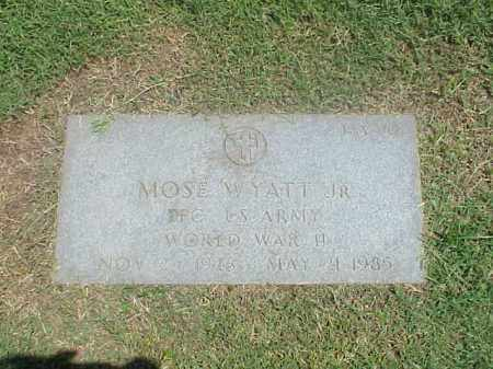 WYATT, JR (VETERAN WWII), MOSE - Pulaski County, Arkansas | MOSE WYATT, JR (VETERAN WWII) - Arkansas Gravestone Photos