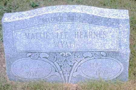 HEARNES WYATT, MATTIE LEE - Pulaski County, Arkansas | MATTIE LEE HEARNES WYATT - Arkansas Gravestone Photos