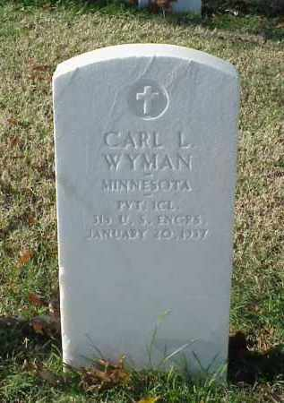WYMAN (VETERAN WWI), CARL L - Pulaski County, Arkansas | CARL L WYMAN (VETERAN WWI) - Arkansas Gravestone Photos