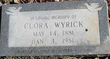 WYRICK, CLORA - Pulaski County, Arkansas | CLORA WYRICK - Arkansas Gravestone Photos