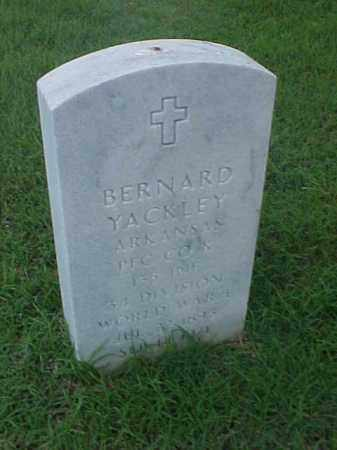 YACKLEY (VETERAN WWI), BERNARD - Pulaski County, Arkansas | BERNARD YACKLEY (VETERAN WWI) - Arkansas Gravestone Photos