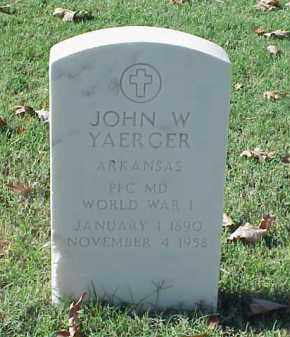 YAERGER (VETERAN WWI), JOHN W - Pulaski County, Arkansas | JOHN W YAERGER (VETERAN WWI) - Arkansas Gravestone Photos