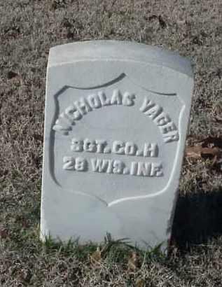 YAGER (VETERAN UNION), NICHOLAS - Pulaski County, Arkansas | NICHOLAS YAGER (VETERAN UNION) - Arkansas Gravestone Photos