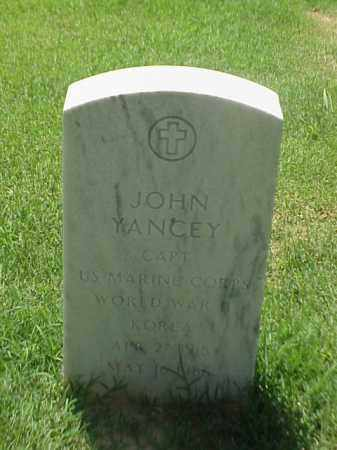 YANCEY (VETERAN 2 WARS), JOHN - Pulaski County, Arkansas | JOHN YANCEY (VETERAN 2 WARS) - Arkansas Gravestone Photos