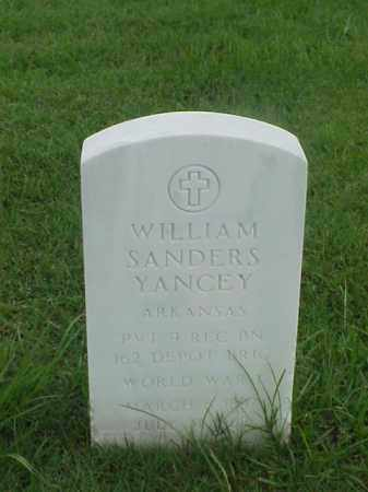 YANCEY (VETERAN WWI), WILLIAM SANDERS - Pulaski County, Arkansas | WILLIAM SANDERS YANCEY (VETERAN WWI) - Arkansas Gravestone Photos