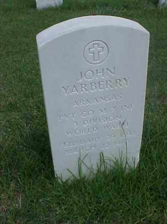 YARBERRY (VETERAN WWI), JOHN - Pulaski County, Arkansas | JOHN YARBERRY (VETERAN WWI) - Arkansas Gravestone Photos