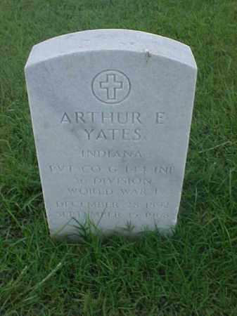 YATES (VETERAN WWI), ARTHUR E - Pulaski County, Arkansas | ARTHUR E YATES (VETERAN WWI) - Arkansas Gravestone Photos