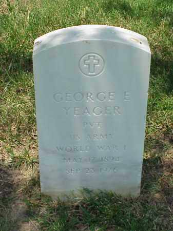 YEAGER (VETERAN WWI), GEORGE E - Pulaski County, Arkansas | GEORGE E YEAGER (VETERAN WWI) - Arkansas Gravestone Photos