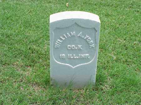 YORK (VETERAN UNION), WILLIAM A - Pulaski County, Arkansas | WILLIAM A YORK (VETERAN UNION) - Arkansas Gravestone Photos