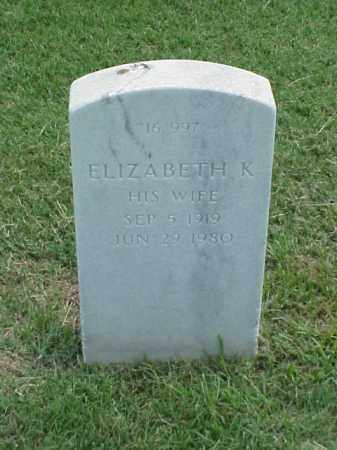 YOUNG, ELIZABETH K - Pulaski County, Arkansas | ELIZABETH K YOUNG - Arkansas Gravestone Photos
