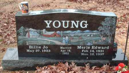 YOUNG, MERLE EDWARD - Pulaski County, Arkansas | MERLE EDWARD YOUNG - Arkansas Gravestone Photos